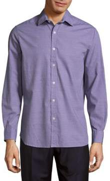 Report Collection Micro-Patterned Cotton Button-Down Shirt