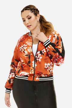 Fashion to Figure Brooklyn Floral Print Bomber Jacket
