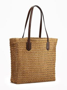 Straw Tote for Women