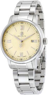 Co Brooklyn Watch Brooklyn Livingston Classic Swiss Quartz Ivory Dial Men's Watch