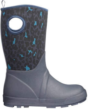 Joe Fresh Kid Girls' Print Rain Boots, Navy (Size 11)