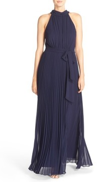 Eliza J Women's Pleated Chiffon A-Line Maxi Dress