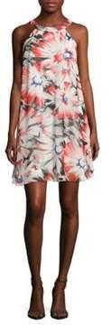 Betsey Johnson Floral-Print Halter Dress