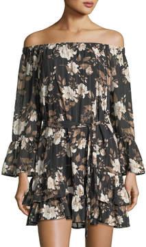 Collective Concepts Off-the-Shoulder Floral-Print Dress