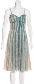 Esteban Cortazar Silk Midi Dress w/ Tags