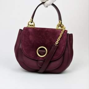 Michael Kors Purple Plum Isadore Top Handle Messenger Purse Leather - PURPLES - STYLE