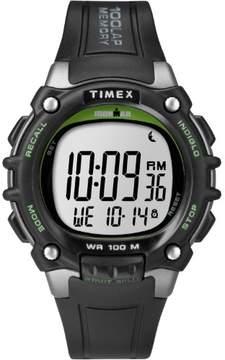 Timex Men's Ironman Classic 100 Full-Size Black/Green Watch, Resin Strap
