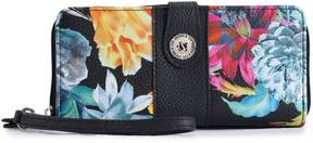 Co Stone & Floral Pebbled Leather Large Tab Wallet