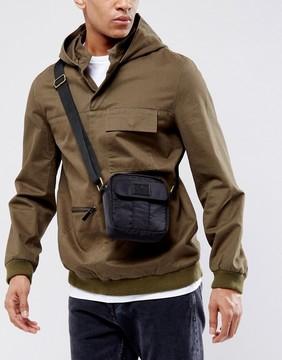 Asos Flight Bag With Front Pocket In Black