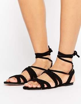 Faith Jude Braid Tie Up Sandals