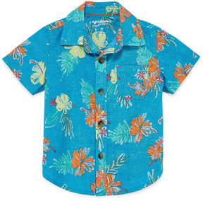 Arizona Short Sleeve Button-Front Shirt Boys