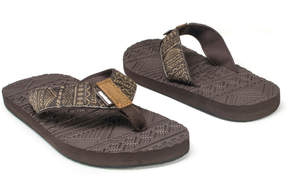 Muk Luks Brown Scotty Sport Sandal - Men