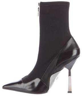 Versace Layered Effect Runway Ankle Boots
