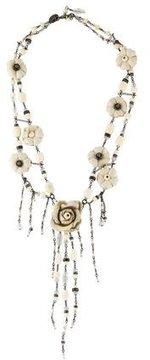 Erickson Beamon Draping Flower Collar Necklace