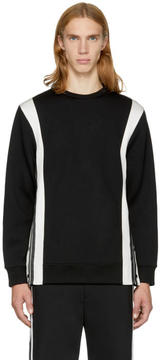 Neil Barrett Black and Off-White Side Snaps Sweatshirt