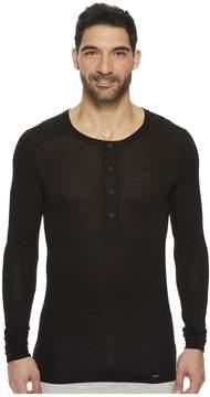 Hanro Light Merino Long Sleeve Shirt Men's T Shirt