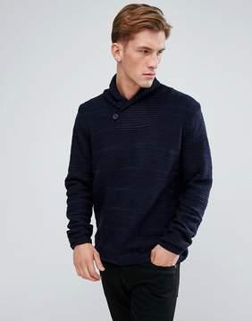 Bellfield Textured Shawl Collar Sweater