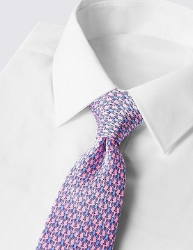 Marks and Spencer Pure Silk Printed Tie