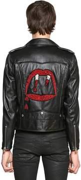 Blood Luster Leather Biker Jacket