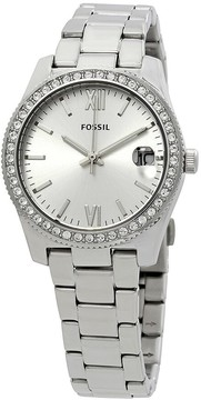 Fossil Scarlette Crystal Silver Dial Ladies Watch