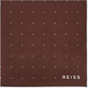 Reiss Planet Silk Twill Pocket Square