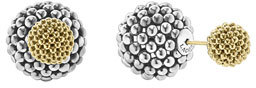 Lagos Sterling Silver & 18K Gold Front-Back Ball Earrings