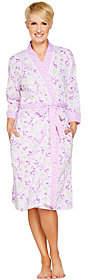 Carole Hochman Daisy & Ditsy Twin Print Cotton Robe