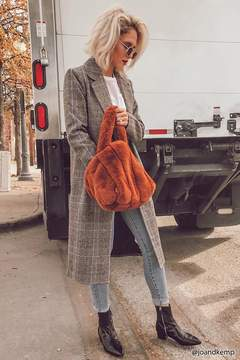 Forever 21 Longline Plaid Coat
