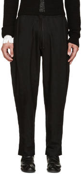 Isabel Benenato Black Coulisse Trousers