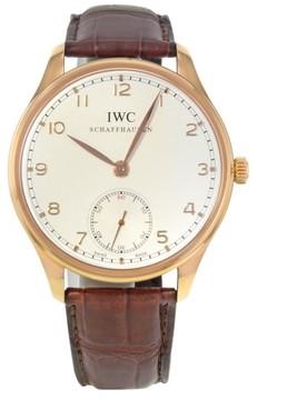 IWC Portuguese IW545409 18K Yellow Gold Manual Wind 44mm Mens Watch