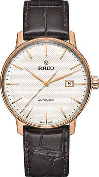 Rado R22877025 Coupole Classic Automatic rose gold-plated stainless steel and leather watch