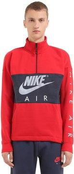 Nike Half Zip Cotton Blend Sweatshirt