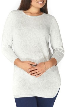 Evans Plus Size Women's Dot Texture Sweater