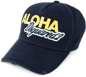 DSQUARED2 Aloha logo embroidered baseball cap