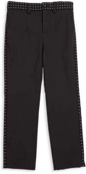 Dolce & Gabbana Boy's Jacquard-Trim Cotton Trousers