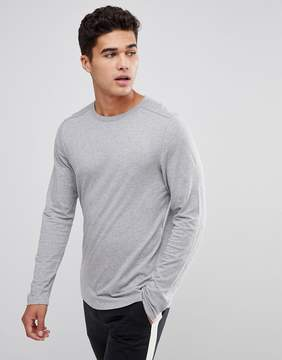 Celio Long Sleeve T-Shirt In Gray