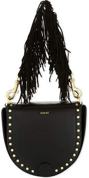 Sacai Horseshoe leather tasselled bag