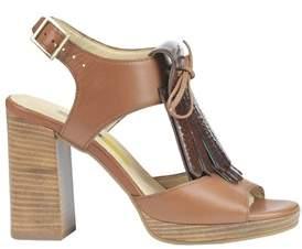 Manas Design Women's Brown Leather Sandals.