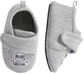 Joe Fresh Baby Girls' Print Slippers, Grey (Size L)