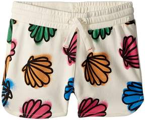 Stella McCartney Beryl Seashell Print Knit Shorts Girl's Shorts