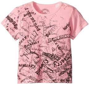 Burberry Mini Rea Scribble Tee Girl's Clothing