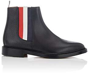Thom Browne Men's Striped-Gore Leather Chelsea Boots