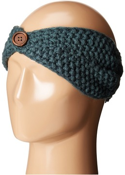 San Diego Hat Company - KNH3440 Cable Knit Headband with Wood Button Headband