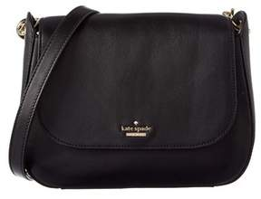 Kate Spade Kendra Leather Shoulder Bag. - BLACK - STYLE