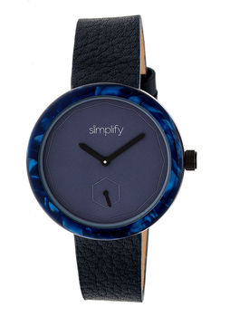 Simplify The 3700 Unisex Blue Strap Watch-Sim3704
