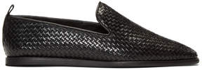 H By Hudson Black Woven Ipanema Loafers
