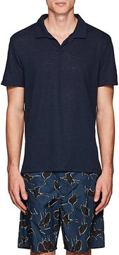 Onia Men's Shaun Slub Linen-Blend Polo Shirt