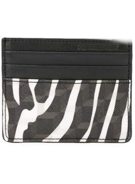 Pierre Hardy zebra printed canvas cardholder