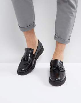 Fred Perry X George Cox Leather Tassel Loafers Black
