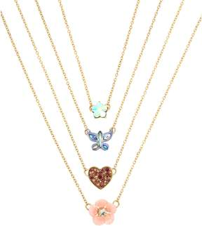 Betsey Johnson BLOOMING BETSEY FOUR NECKLACE SET
